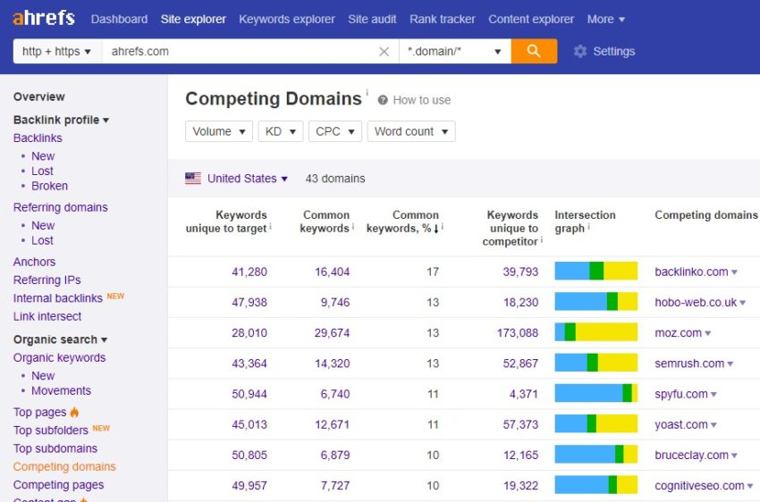 rakip domain analiz listesi